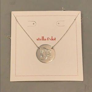 Stella & Dot Engraved Disc Necklace - KTS